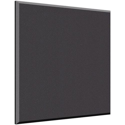 "Auralex 1"" X 24"" X 24"" Panel, Beveled Edge, Onyx Fabric, AFN 2 Impaling Clips - Tier 3"