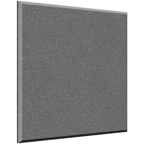 "Auralex 1"" X 24"" X 24"" Panel, Beveled Edge, Slate Fabric, AFN 2 Impaling Clips - Tier 3"