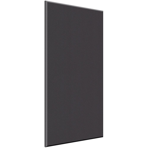 "Auralex 1"" X 24"" X 48"" Panel, Beveled Edge, Onyx Fabric, AFN 2 Impaling Clips - Tier 3"