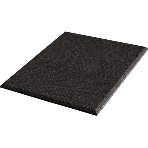 """Auralex ProPanel Fabric Wrapped Acoustical Absorption Panel and Cloud Mount (2"""" x 2' x 2', Beveled, Obsidian)"""