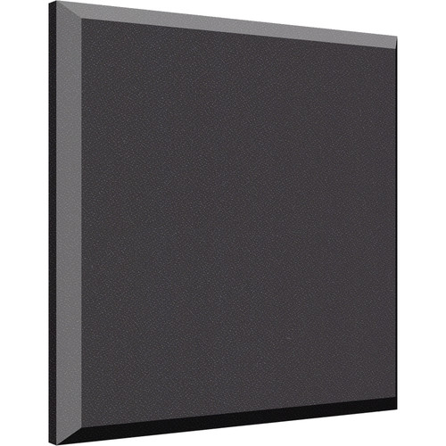 "Auralex 2"" X 24"" X 24"" Panel, Beveled Edge, Onyx Fabric, AFN 2 Impaling Clips - Tier 3"