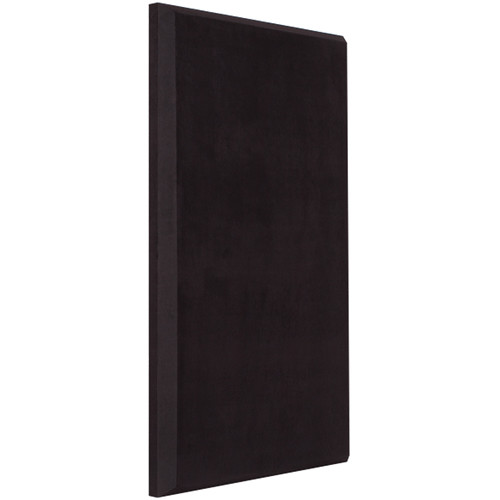 "Auralex ProPanel B224 Fabric-Wrapped Acoustical Absorption Panel (2 x 24 x 48"", Beveled Edge, Black SonoSuede)"