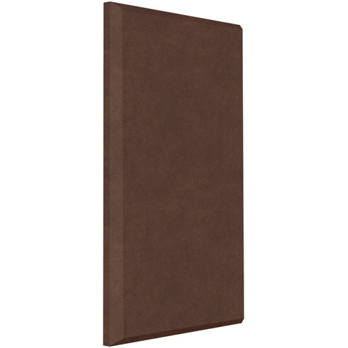 "Auralex ProPanel B224 Fabric-Wrapped Acoustical Absorption Panel (2 x 24 x 48"", Beveled Edge, Brown SonoSuede)"