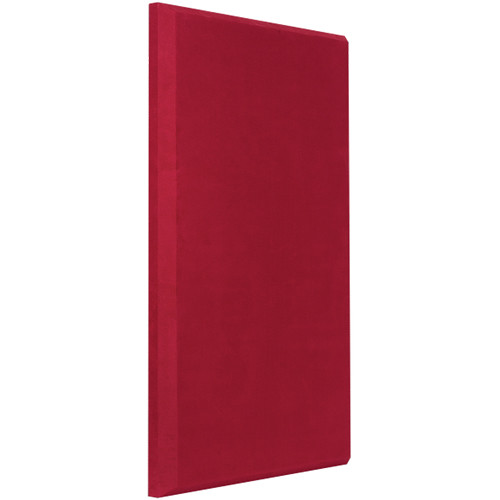"Auralex ProPanel B224 Fabric-Wrapped Acoustical Absorption Panel (2 x 24 x 48"", Beveled Edge, Red SonoSuede)"