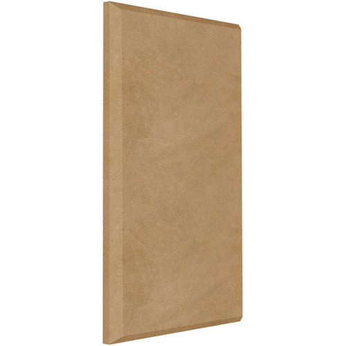 "Auralex ProPanel B224 Fabric-Wrapped Acoustical Absorption Panel (2 x 24 x 48"", Beveled Edge, Tan SonoSuede)"