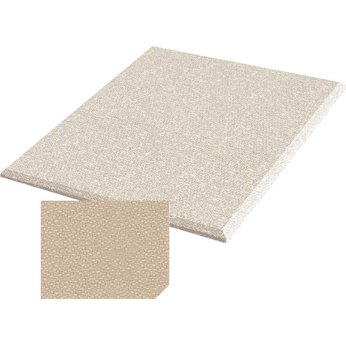 "Auralex ProPanel Fabric Wrapped Acoustical Absorption Panel and Cloud Mount (2"" x 4' x 4', Beveled, Beige)"