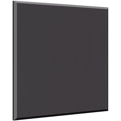 "Auralex 2"" X 48"" X 48"" Panel, Beveled Edge, Onyx Fabric, AFN 4 Impaling Clips - Tier 3"