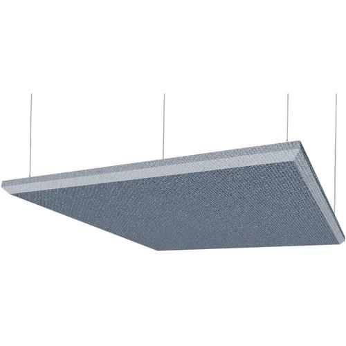 "Auralex 2"" X 48"" X 48"" Panel, Beveled Edge, Quarry Fabric, 4 Cloud Anchors - Tier 3"