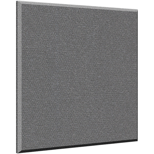 "Auralex 2"" X 48"" X 48"" Panel, Beveled Edge, Slate Fabric, AFN 4 Impaling Clips - Tier 3"
