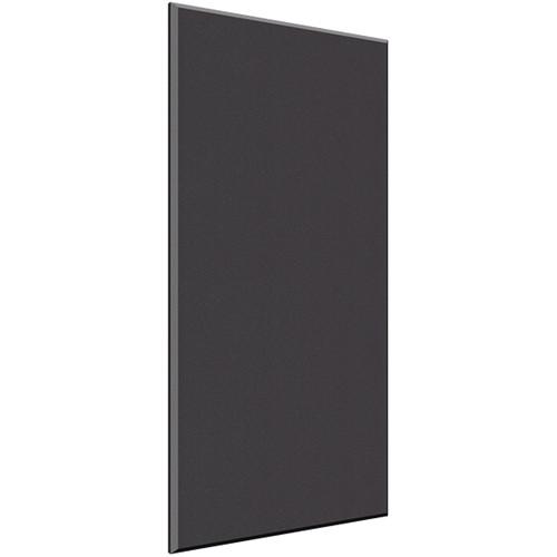 "Auralex 2"" X 48"" X 96""' Panel, Beveled Edge, Onyx Fabric, 6 AFN Impaling Clips - Tier 3"