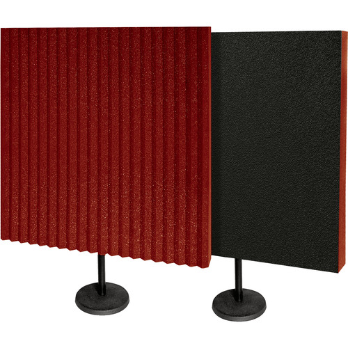 Auralex DeskMAX Stand-Mounted Acoustic Panels (Burgundy, Set of 2)