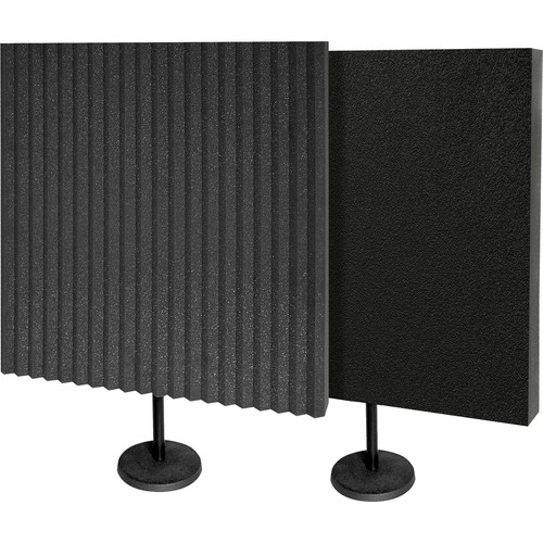Auralex DeskMAX Stand-Mounted Acoustic Panels (Charcoal, Set of 2)