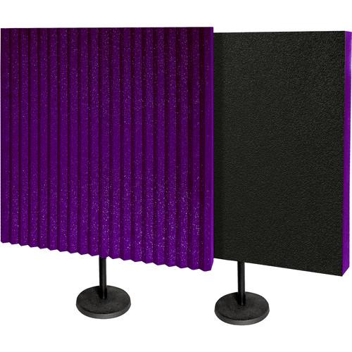 Auralex DeskMAX Stand-Mounted Acoustic Panels (Purple, Set of 2)