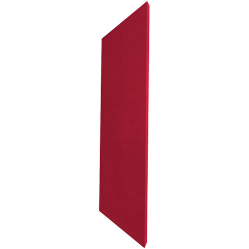 """Auralex ProPanel M224 Fabric-Wrapped Acoustical Absorption Panel (2 x 24 x 48"""", Mitered Edge, Red SonoSuede)"""