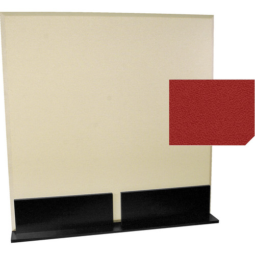 Auralex ProGo Portable Freestanding Acoustic Panel with Floorstands (4 x 4', Poppy)