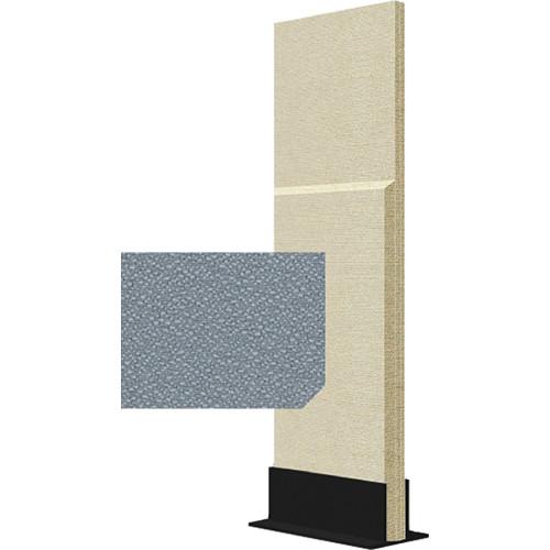Auralex ProGo Portable Freestanding Acoustic Panel with Floorstand (2 x 6', Shadow)