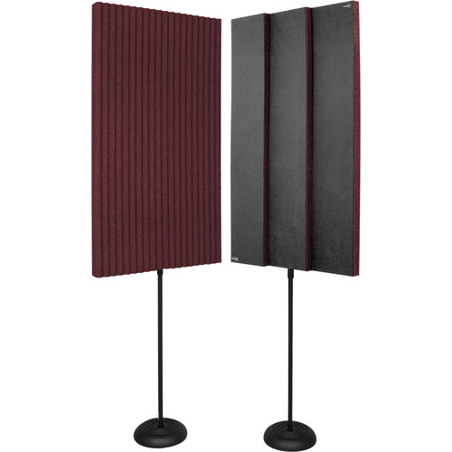 Auralex ProMAX V2 Acoustic Panels with Floor Stands (Burgundy)