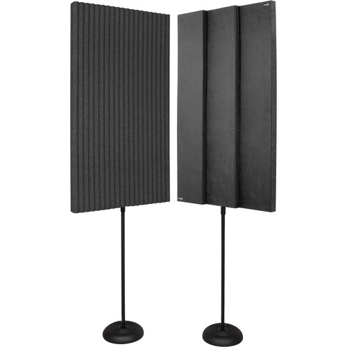 Auralex ProMAX V2 Acoustic Panels with Floor Stands (Charcoal)