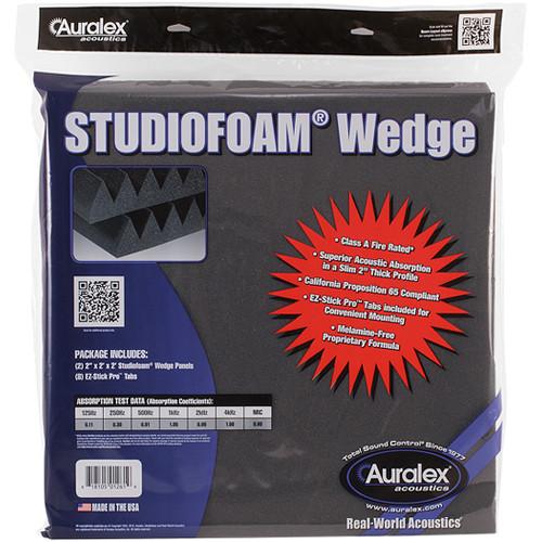 "Auralex Studiofoam Pyramid Panels 2 x 24 x 24"" (Charcoal, 2-Pack)"