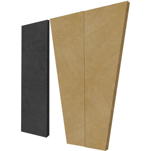 Auralex S3HT SonoSuede HT Sound Absorption System (8 Tan Trapezoid Panels, 4 Black Corner Panels)