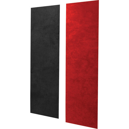 Auralex S3PRO SonoSuede Pro Sound Absorption System (8 Red Pro Panels, 4 Black Corner Panels)