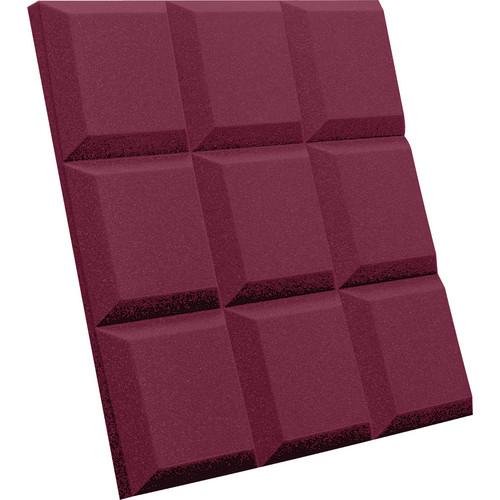 Auralex SonoFlat Grid Sound Absorption Panels (16-Pack, Burgundy)