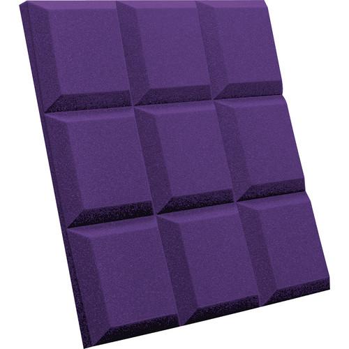 Auralex SonoFlat Grid Sound Absorption Panels (16-Pack, Purple)