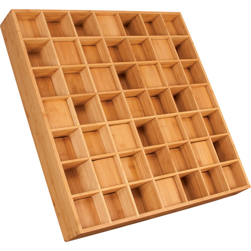 """Auralex Sustain Prisms - Bamboo Sound Diffusor for Wall or Ceiling Grids Mounting (3 x 23.75 x 23.75"""", Pair)"""