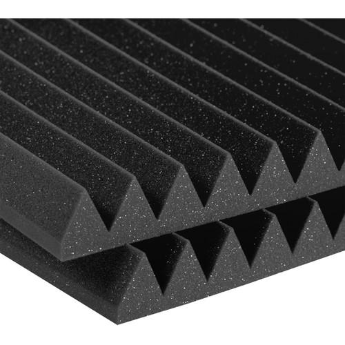 "Auralex 2 x 24 x 24"" Studiofoam Wedge Panels (Pair, Charcoal)"