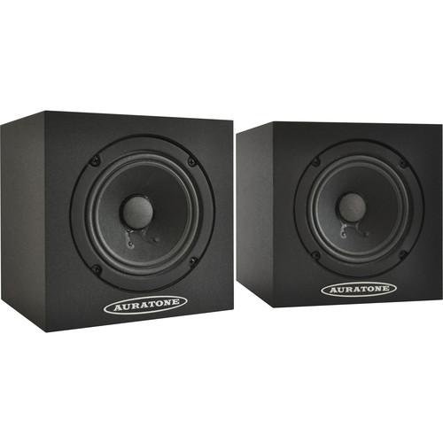 Auratone 5C Super Sound Cube Passive Studio Monitors (Black Laminate Finish, Pair)