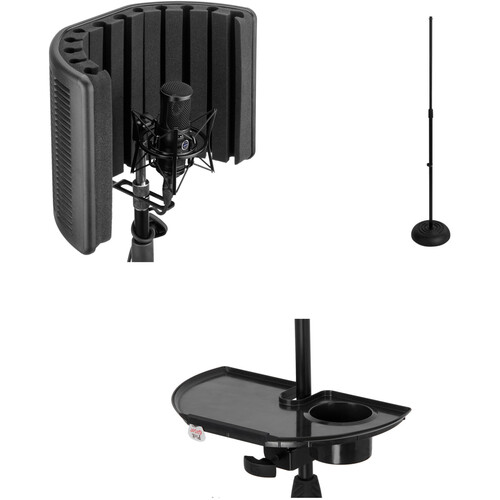 Auray Acoustic Reflection Filter with Floor Stand and Accessory Tray Kit