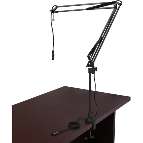 Auray BAE-2X Two-Section Broadcast Arm with External Springs & Integrated XLR Cable