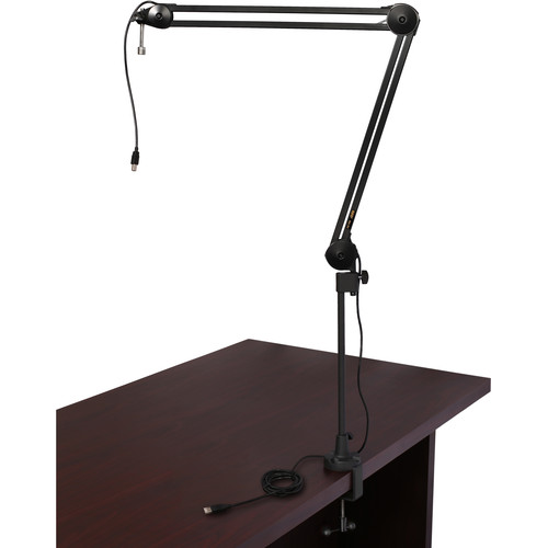 Auray BAI-2U Two-Section Broadcast Arm with Internal Springs and Integrated USB Cable