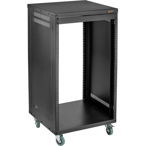 "Auray ERS- 16U Steel Equipment Rack with 3"" Casters (16 RU)"