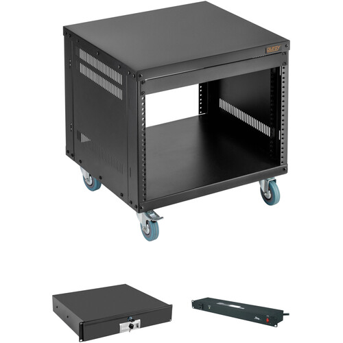Auray ERS-8U Equipment Rack with Drawer and Power Conditioner Kit (8 RU)