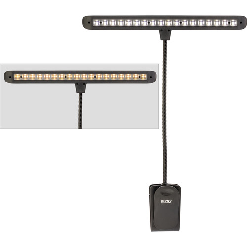 Auray M-LED18-CL 18-LED Clip-On Music Stand Gooseneck Light (Cool/Warm Light)