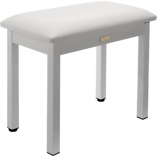 Auray PBM-FW Metal Frame Piano Bench (White)