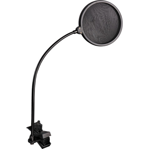 """Auray PFSS-55 Pop Filter with Gooseneck with Springloaded Clamp (5.5"""" Pop Filter and 13.5"""" Gooseneck)"""