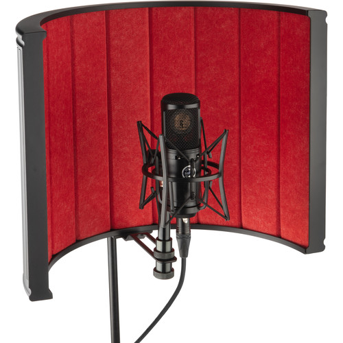 Auray RF-C20 Studio Isolation Filter (Red Composite, Metal Back)