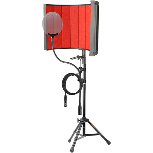 Auray RF-C20 Studio Isolation Kit with RF-C20 Filter, RFMS-580 Tripod Stand, Pop Filter, Headphone Clamp & Mic Cable