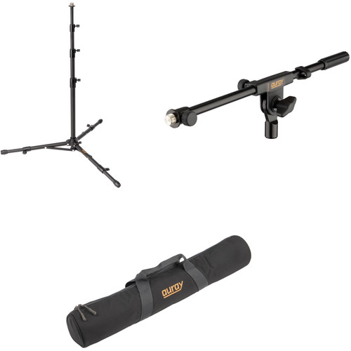 Auray Travelers Microphone Stand with Boom Arm and Carry Bag Kit