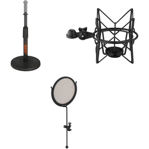 Auray TT-6220 Telescoping Tabletop Microphone Stand Kit (Black)
