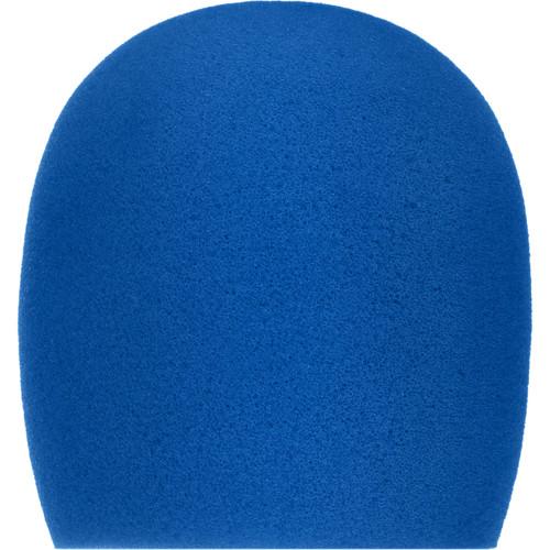 "Auray WHF-158 Foam Windscreen for 1-5/8"" Diameter Microphones (Blue)"