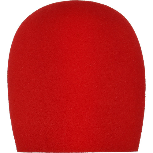 "Auray WHF-158 Foam Windscreen for 1-5/8"" Diameter Microphones (Red)"
