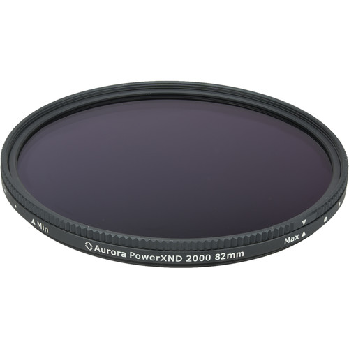 Aurora-Aperture 82mm PowerXND 2000 Variable Neutral Density 1.2 to 3.3 Filter (4 to 11 Stops)