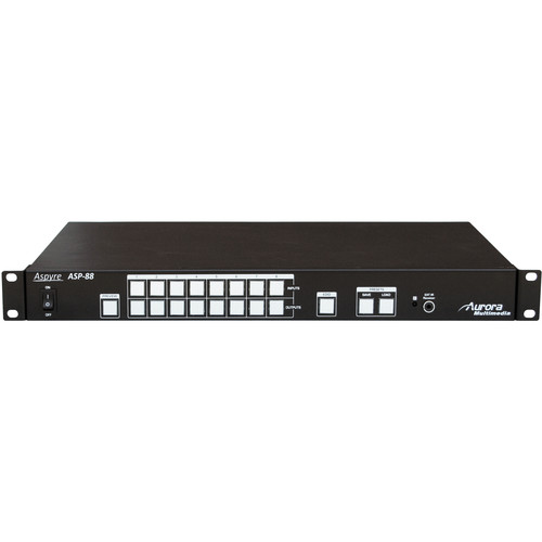 Aurora Multimedia ASP-88-4K 8 x 8 HDMI Matrix Switcher (1RU)