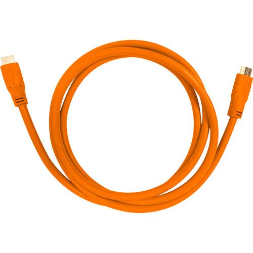 Aurora Multimedia HDMI 2.0a 18Gbps Cable (1.6', Orange)