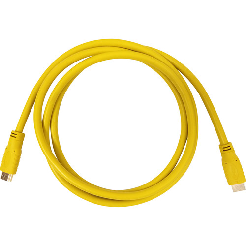 Aurora Multimedia HDMI 2.0a 18Gbps Cable (1.6', Yellow)