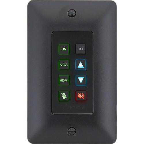 Aurora Multimedia 8-Button Ethernet Backlit Control Panel (Black)