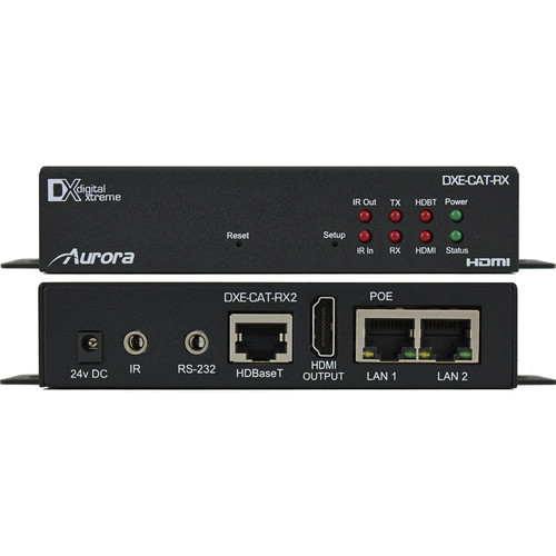 Aurora Multimedia Full HD/4K HDMI over CatX Extender with Bidirectional RS-232, IR, & Dual LAN (330')
